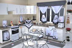Jogo de Cozinha em Patchwork Completo - Galinha - 22 Peças