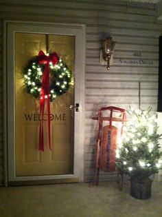 Welcome Christmas front door.