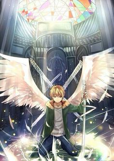 Yukine, angel wings, cool, Shinki; Noragami
