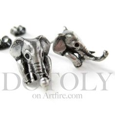 For all of you who don't like to wear rings ... we've made you an earring version of our elephant ring! Just as cute and with just as much details these little guys look super cute on your ears!    Yay for animal jewelry! :)    ---    Handling time:  - Please allow two to three business days for ...