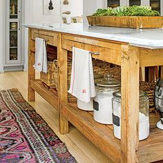 The Island - Calm & Current Natural Kitchen | Southern Living - April 2014