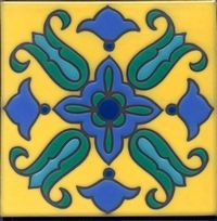 Another pattern from my collection, though mines a 4x4-- Catalina Tile 6x6, Silver Canyon Tile Co.