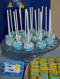 Rubber Duckies and Blue Camo Baby Shower Party Ideas | Photo 10 of 36 | Catch My Party Baby Shower Camo, Baby Shower Treats, Rubber Ducky Baby Shower, Shower Party, Baby Shower Parties, Camo Gender Reveal, Rubber Ducky Birthday, 1st Birthday Parties, 2nd Birthday