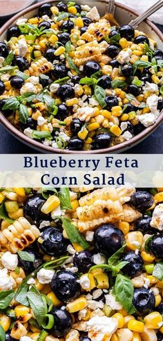 Salads To Go, Easy Salads, Summer Salads, Blueberry Salad, Blueberry Recipes, Feta Salat, Cooking Recipes, Healthy Recipes, Fresh Salad Recipes
