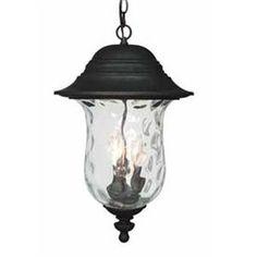 Volume International Aurora 22-in H Iron Outdoor Pendant Light Item #: 432331 |  Model #: V8712-36  $167