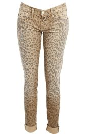 Current/ElliottThe Rolled Skinny in Camel Leopard