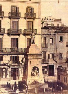 *1874.- Una de les poques imatges fotogràfiques que es conserven de la Font del Vell - Barcelona