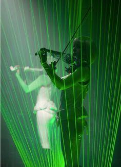 The Laser Violinist - Electric Violin & Laser Show   www.contrabandevents.com
