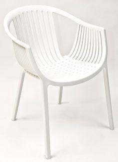 Pedrali Tatami Stackable white Poly Outdoor Chair, TATAMI-WHITE by Florida Seating | BizChair.com