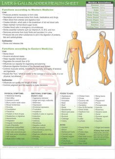 Health Sheet Gallbladder and Liver-- some good considerations, especially the symptoms and food list.