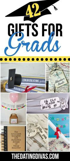 42 Gifts for Grads! LOVE this ideas!! Gifts for Grads #gradgifts Graduation gifts #giftsforgrads Graduation gifts