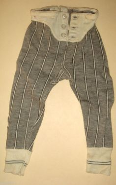 Antique 1900 Mens Salesman Sample LONG UNDERWEAR PANTS display doll size, neat!