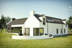 For this project planning where based on an existing farm. The size was 2900 with a large open living dinning space. Keeping within the cluster of farm buildings. Modern Bungalow House, Rural House, House Cladding, Facade House, Home Building Design, Building A House, Building Plans, Interior Design Northern Ireland, House Designs Ireland