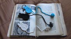 Horgolt macskás könyvjelzők-leírással