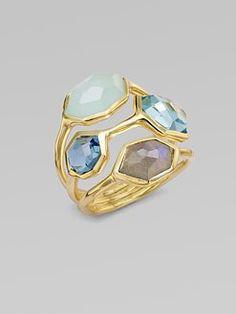 Ippolita 18K Gold Semi-Precious Multi-Stone Cluster Ring