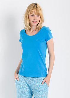 logo shortsleeve u-shirt fountain blue #blutsgeschwister