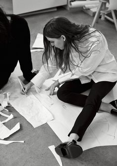 Lykke Li for & Other Stories by Carl-Axel Wahlstrom Photo by Boe & Marion. Behind the scenes. Fashion atelier, studio, loft. Work in progress. Fashion designer.