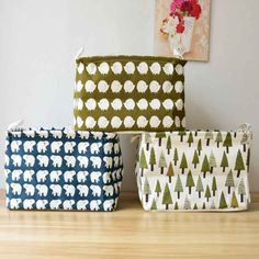 Large Canvas Organizer box Dirty Clothes Laundry Basket Storage Container Organizer Householder Bag New Patterns fabric box-in Storage Boxes & Bins from Home & Garden on Aliexpress.com | Alibaba Group