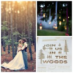 Lake Tahoe Wedding Inspiration | Wedding in the Woods | Lake Tahoe Weddings with Tahoe Unveiled // The card's design is awesome.