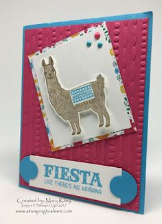 Demo Meeting Swaps with Stampin\' Up! products, #stampingtoshare Created by Mary Kiley, Fiesta Birthday Bundle