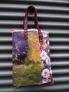 Swarm — ONE OF A KIND PAINTING BAG - Daisy (free shipping)