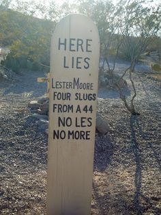 Boot Hill, Tombstone, AZ. So cheesy, but a tourist staple. :)