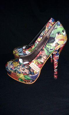 Marvel Avengers Custom Heels. $130.00, via Etsy.