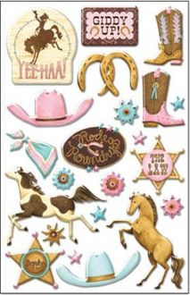 COWGIRL UP EPOXY STICKER--$1.50