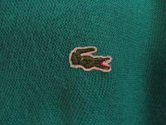 Izod Lacoste Sweater XL Kelly Green Alligator Authentic
