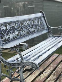 Shabby chic garden bench