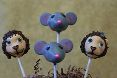Mice and Lions Cake Pops