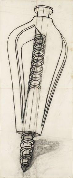 Dessin pour Le Présage | Konrad Klapheck, Dessin pour Le Présage (1987)