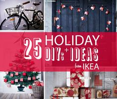 """The new Holiday collection from IKEA popped into my email box this week and my first thought was """"I must keep these ideas in mind for the holidays"""" lots of cool DIY ideas to bookmark. One of the main highlights this season that I loved was the MARGARETA fabric with a nearly 6 foot image…"""