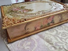 Secret Storage, Decoupage Art, Vintage Farm, Hope Chest, Wooden Boxes, Storage Chest, Decorated Boxes, Projects To Try, Farm House