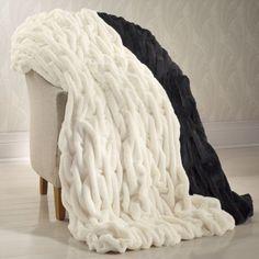 Draped Faux Fur Throw from Midnight Velvet®  www.midnightvelvet.com
