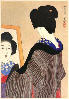 Black Neckband  by Ito Shinsui, 1928  (published by Watanabe Shozaburo)