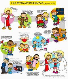 Dibujos para catequesis: LAS BIENAVENTURANZAS (Mateo 5, 2-12)