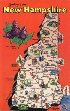 new hampshire tourist map