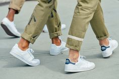 neutrals // sneakers, chinos, no socks