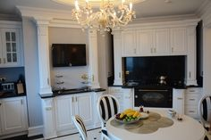 A Warm Kitchen.. This penthouse decorated by Assalam Interior Co. in 2014 Ataşehir Istanbul. Everysingle pieces are custommade. Project was improved for most famous Turkish contractor Mr. Ali Ağaoğlu by Sezen Ulubay. The style reminds last 19th century Osmani Palaces. Especially ceiling and wall decorations facinating. The location of project is Andromeda Gold Tower which contructed by Agaoğlu Company, 50th- 51th floor penthouse.