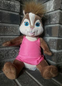 "Chipwrecked Chipette Brittany Build a bear Alvin & Chipmunks 14"" Plush  #BuildABearWorkshop"