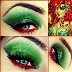 Make up idea for costume.......Poison Ivy