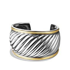 Sculpted Cable Cuff with Gold