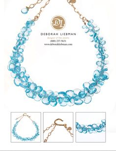 Blue Topaz and 14K Gold
