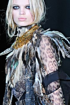 Daphne Groeneveld, Roberto Cavalli F/W 2011, Milan Fashion Week.