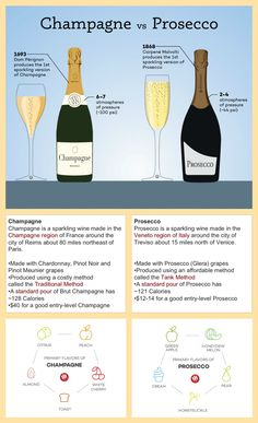 Champagne vs. Prosecco infographic and website