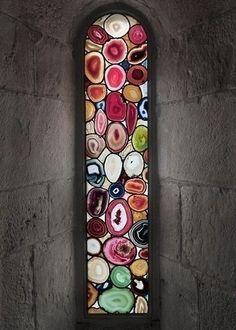 Agate Stained Glass-Inspired Windows by Sigmar Polke, via 29RueHouse (via Paul Doolan)