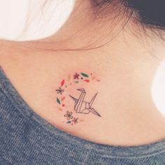 The flowers would be cool to add onto my existing paper crane.