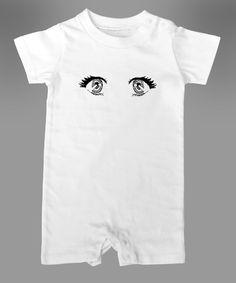 アニメアイドルの瞳のイラスト入りロンパースです。これで赤ちゃんの可愛さアップ間違いなし!