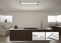 The newest ceiling hoods in the programm of Wave Design. Fully integrated in the ceiling.